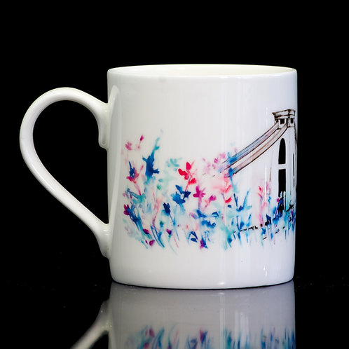 Bristol Suspension Bridge Mug. Delicate Summer print. - Small