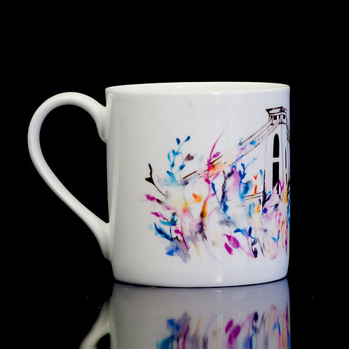 Bristol Suspension Bridge Mug. Carnival Design.- Small