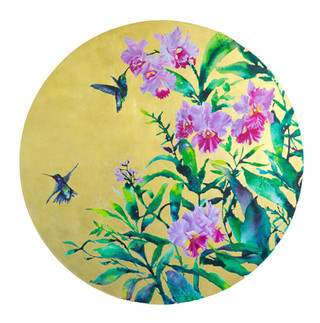 Hummingbirds and Orchids- Tondo.jpg