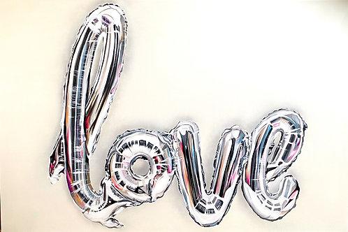'Love' Balloon painting