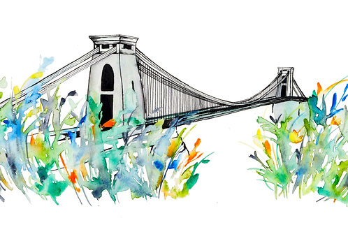 Tropical Bristol Suspension Bridge Print
