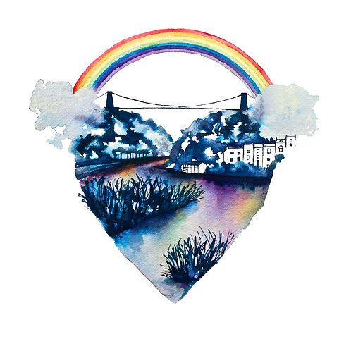 Bold Rainbow Love Bristol Print