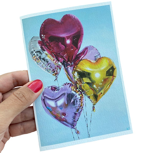Let your heart shine greeting card.