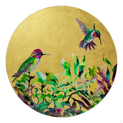 Gold Hummingbirds