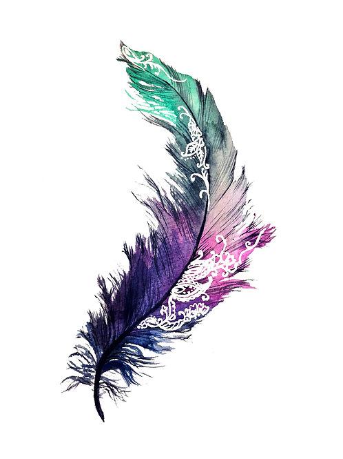 Henna Feather Print A4