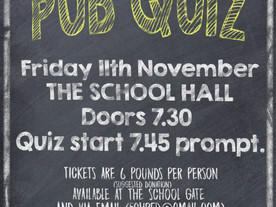 Pub Quiz tickets - on sale now!
