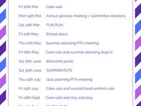 2018 Dates in full