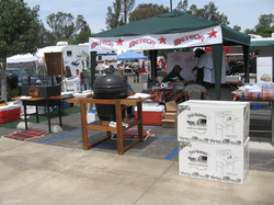 SETTING UP FOR BBQ COMPETITION