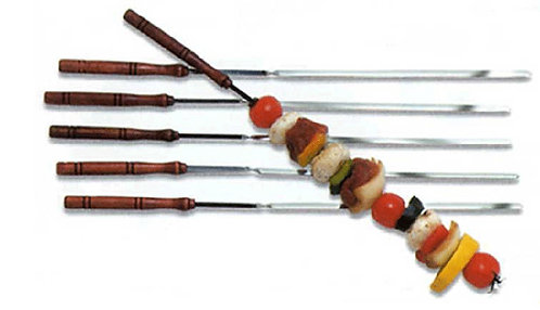 "DELUXE CHROME 18"" SKEWERS, SET OF 6"