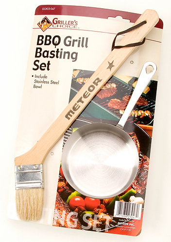 STAINLESS STEEL CUP & BASTING BRUSH SET