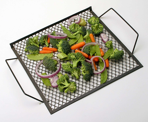 """12"""" x 12"""" Grill Topper with Handles Non-Stick"""