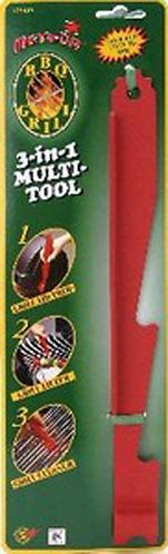 HEATON 3 IN 1 BBQ TOOL - LID PROP, GRID LIFTER & GRID SCRAPER