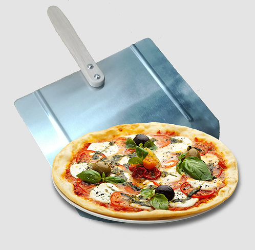 X-LARGE PIZZA PEEL ALUMINUM WITH WOODEN HANDLE