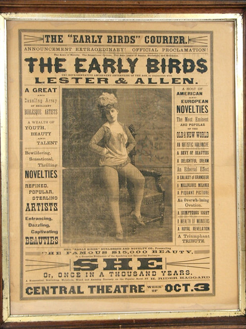"Burlesque Broadside ""The Early Birds"""