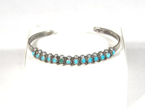 Vintage Single Row Delicate Zuni Bracelet