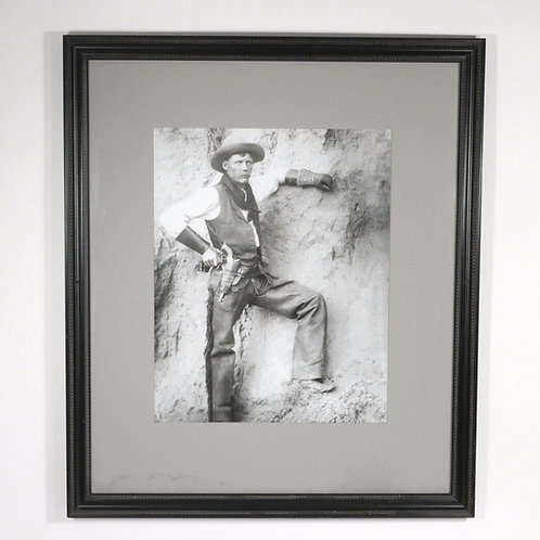 Large Glass Negative Contact Print of a Cowboy from the 1880's