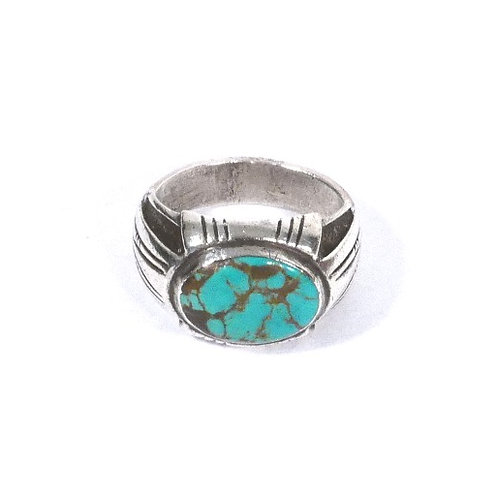Vintage Navajo Silver & Turquoise Ring