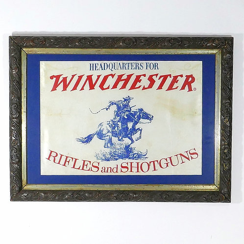 Early Winchester Silk Screen On Fabric Advertising Piece