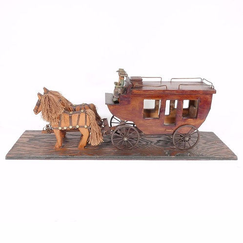 Folk Art Western Stagecoach
