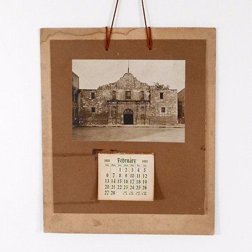 1910 Alamo Hanging Photo Calendar