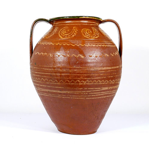 Large French Pottery Jar. Early 19th century