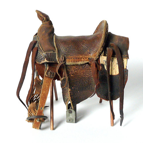 Miniature Folk Art Saddle