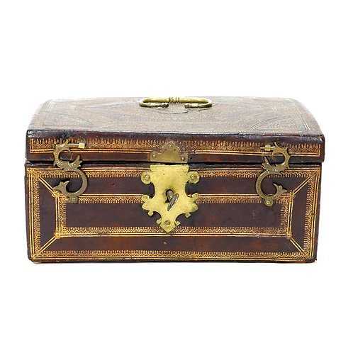 Early Leather document box