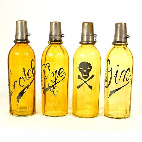 Set of Saloon Backbar Bottles