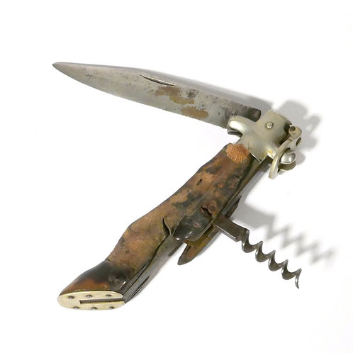 Vintage Deer Foot Hunter's Knife