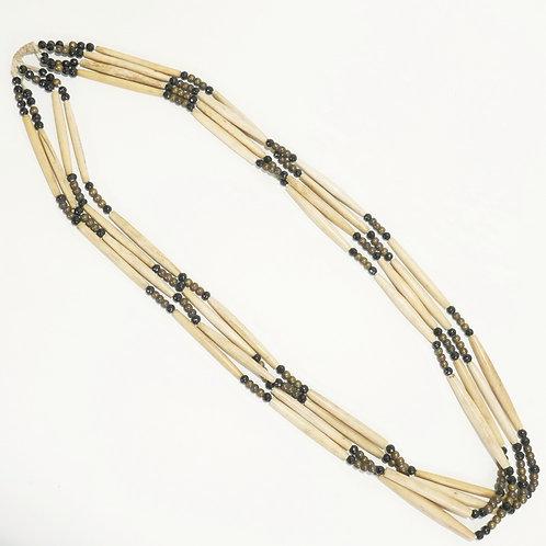 Vintage Hairbone Necklace - Plains Indian
