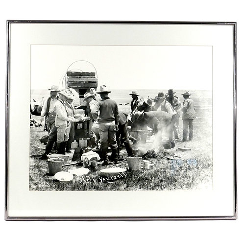 Early Glass Negative Photograph of Chuckwagon by John Eggen