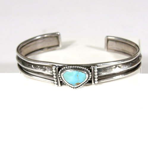 Old Navajo Triangle Stone Turquoise Bracelet