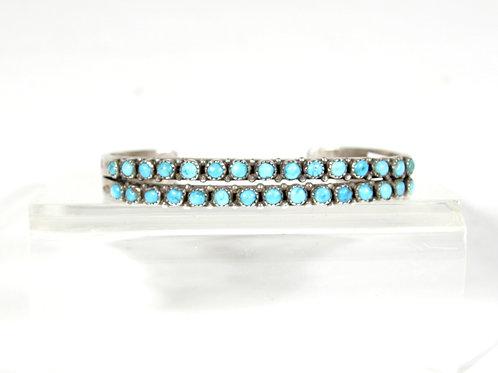 Early Heavy Zuni Double Row Ingot Bracelet