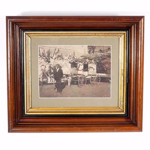 El Dorado Dairy Delivery Wagon - Antique Photograph c. 1880-1890