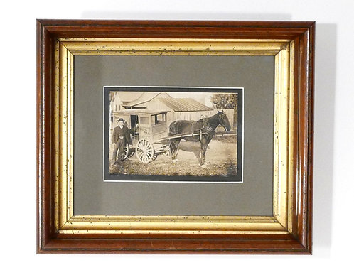 Milkman with Horse Drawn Delivery Wagon