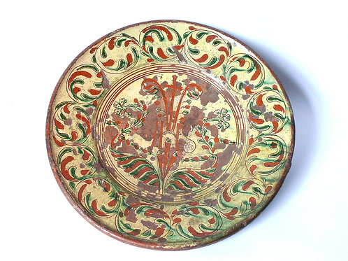 Rare 18th Century French Polychrome Charger
