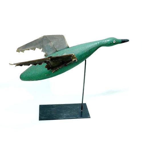 Flying Duck Folk Art Sculpture (Decoy)