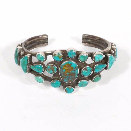 Vintage 21 Stone Navajo Cluster Bracelet