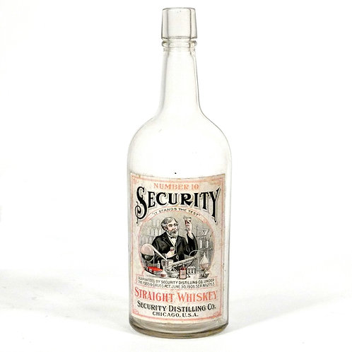 Number 10 Security - Labeled Whiskey Bottle