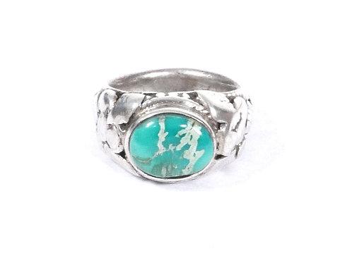 Vintage Navajo Men's Silver & Turquoise Ring