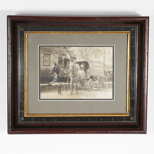 Antique Photo - National Laundry Horse Drawn Delivery Wagon