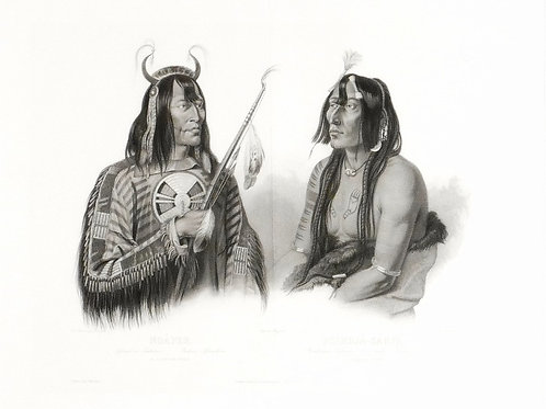 Large Double Portrait by Karl Bodmer