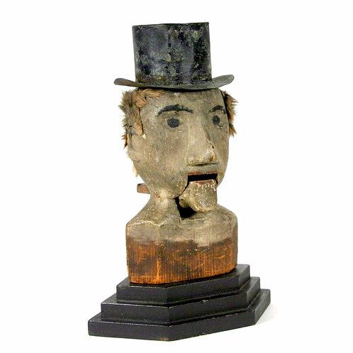 Folk Art Ventriloquist Head