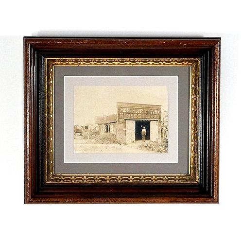 19th Century Framed Photo of Blacksmith