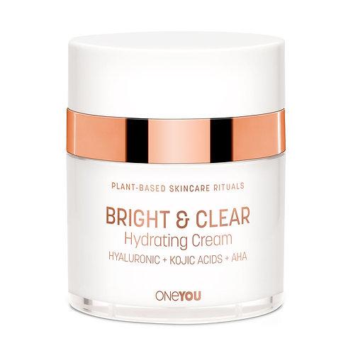 Bright & Clear Hydrating Cream with Hyaluronic Acid, Kojic Acid, AHA