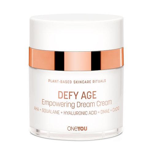 Defy Age Empowering Dream Cream with AHA, Squalane, Hyaluronic Acid, DMAE, CoQ10