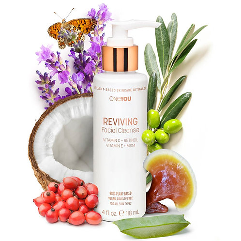 Reviving Facial Cleanse with Ingredients