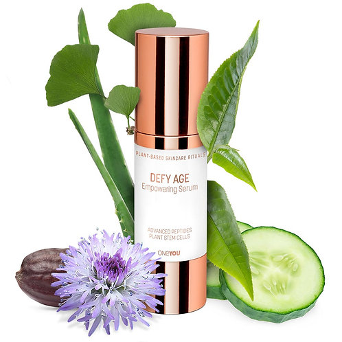 Defy Age Empowering Serum with Advanced Peptides and Plant Stem Cells