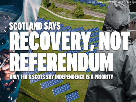 NEW POLL: ONLY 1 IN 8 SCOTS SAY INDEPENDENCE IS A PRIORITY