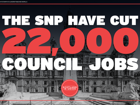 SNP cuts 22,000 council jobs since coming to power